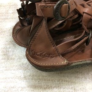 e5854f02ed8 Kickers Shoes - Kickers Pepita 2 Gladiator Sandals Leather
